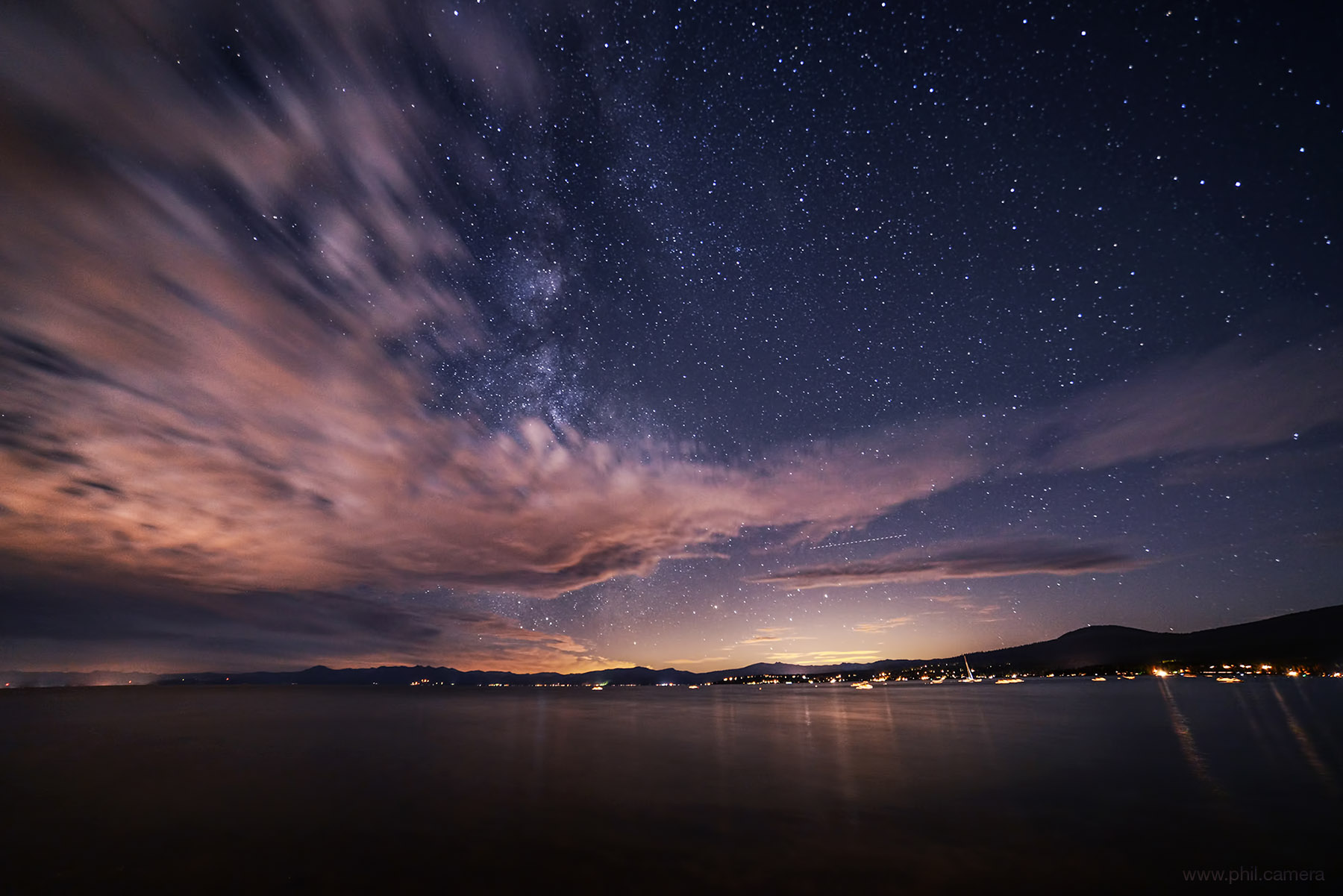 Milky Way and fast-moving clouds on
