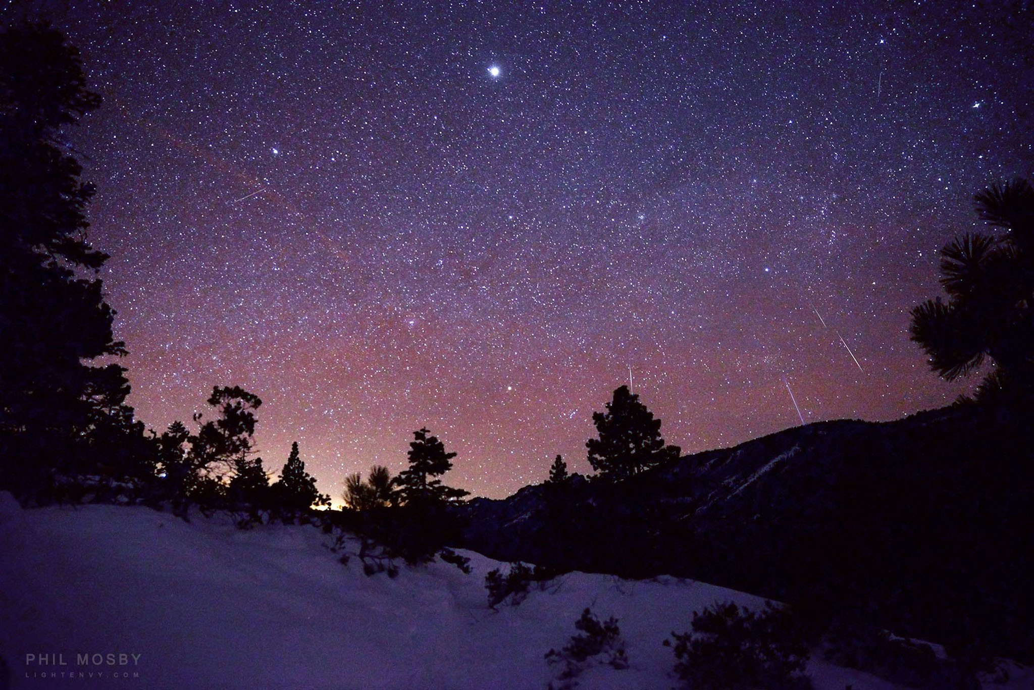 The Geminid Meteor Shower, from Eag