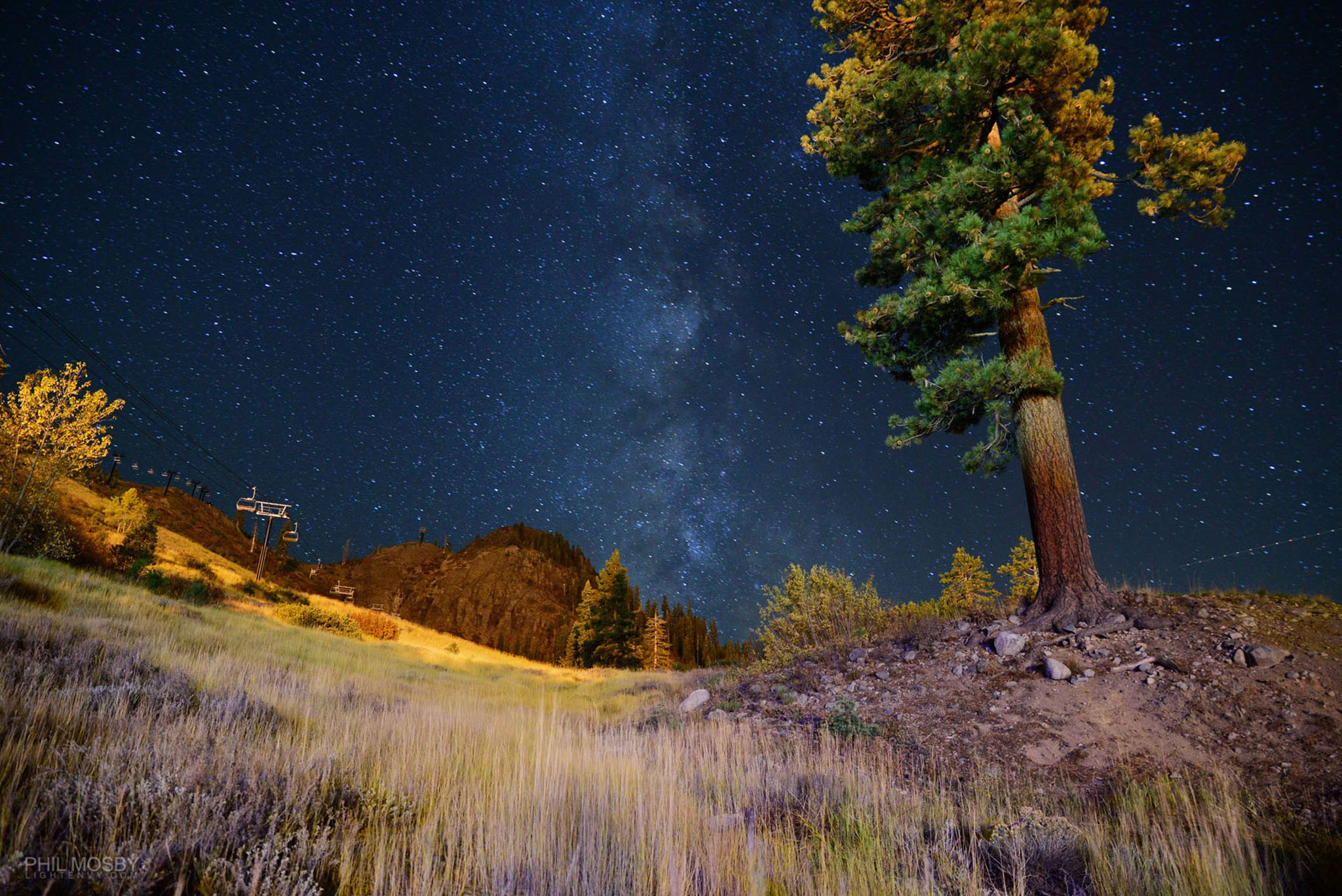 Stars over Squaw - The Milky Way sh