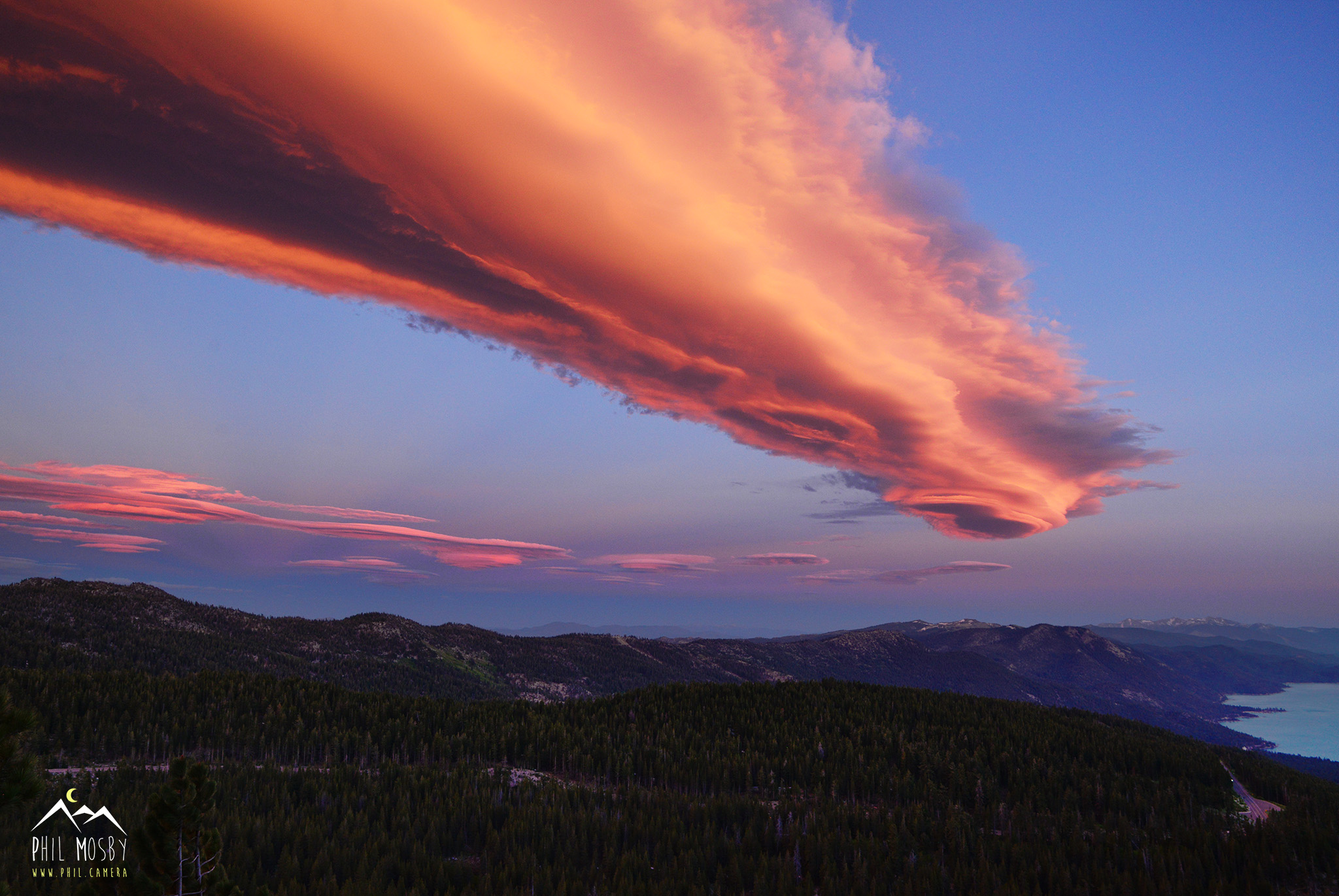 Surreal Lenticular Cloud over Lake