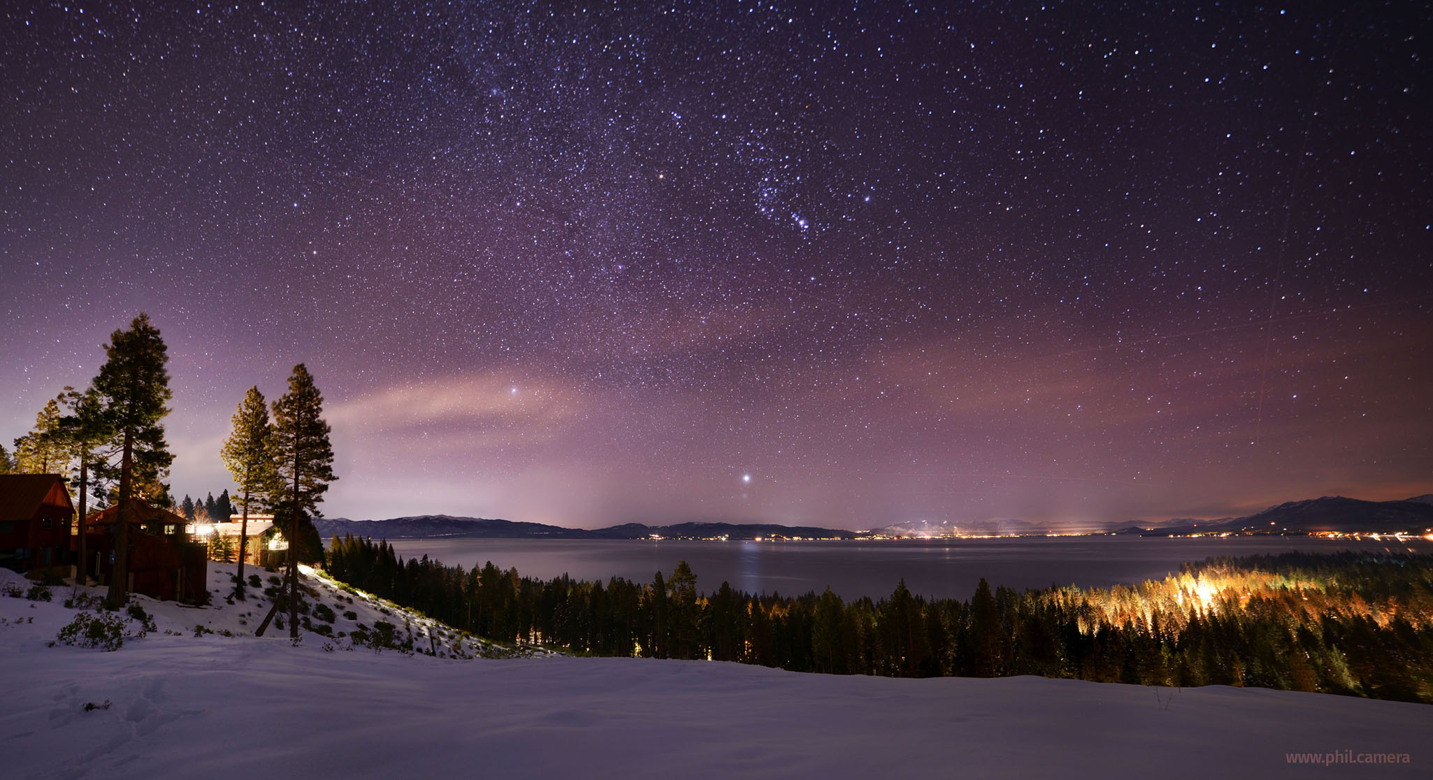 The Winter Sky over Lake Tahoe