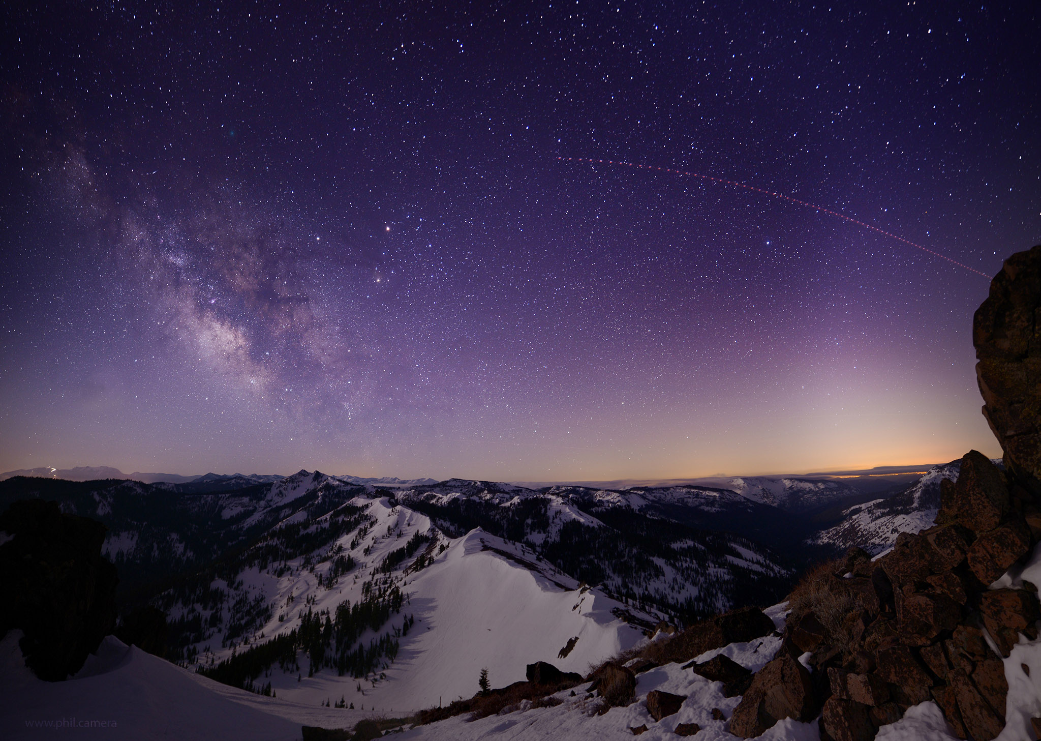 Milky Way from the top of Ward Peak