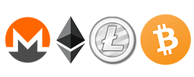 Many crypto currencies accepted