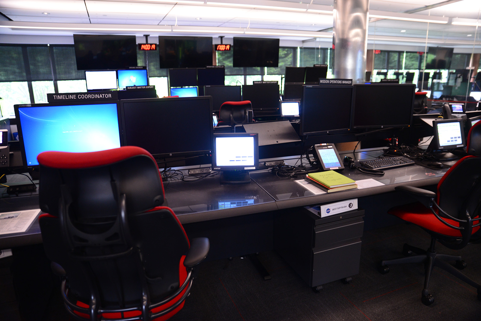 James Webb Space Telescope mission control room.