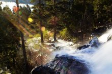Sometimes, lens flare happens. At Eagle Falls.