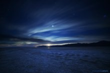 Moonrise over the Playa. 02/05/2015