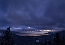 Dramatic clouds over Lake Tahoe