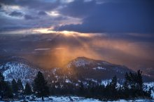 Otherworldly Light in Washoe Valley from the Mt Rose Winters Creek Road