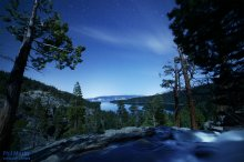 Starlit, Moonlit Emerald Bay and Eagle Falls. 02/24/2015