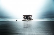 """Ghost Ship 3"" - The sunken remains of the Peter Iredale. Near Fort Stevens, Oregon."