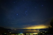 Winter Stars over Tahoe, looking South. 02/12/2015