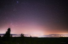 Stars over Lake Tahoe, from the Lake View trail at Tahoe XC