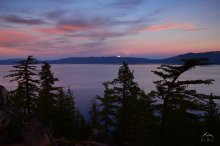 Full Moon Rising over Lake Tahoe
