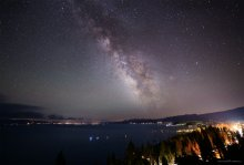 Milky Way over Tahoe City 07/11/2015