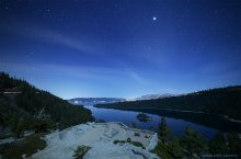 """Moonlight Patio"" - overlooking Emerald Bay, Lake Tahoe. 02/24/2015"