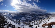 Reno, NV blanketed in a fresh layer of snow. 12/30/2014