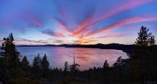Sunset over North Lake Tahoe / Kings Beach 01/28/2015