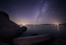 Perseid Meteor Shower 2015 and Milky Way on the East Shore of Lake Tahoe (1 of 5) 08/12/2015