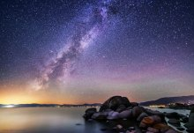 Perseid Meteor Shower 2015 and Milky Way on the East Shore of Lake Tahoe (2 of 5) 08/12/2015