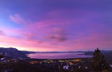 Cotton Candy colors in the sky over Lake Tahoe during Sunrise