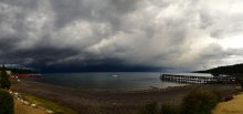 Stormy weather over Lake Tahoe, in Carnelian Bay, CA 05/08/2015