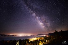 Brilliantly Clear Milky Way over West Shore, Lake Tahoe