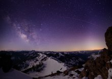 Milky Way from the top of Ward Peak in Alpine Meadows
