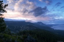 Morning Clouds and Light over Lake Tahoe